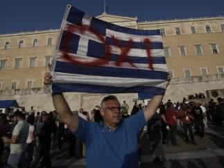 Manifestación en Atenas