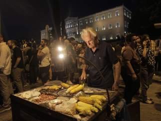 Manifestaci�n en Grecia