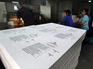 Papeletas listas para el referéndum