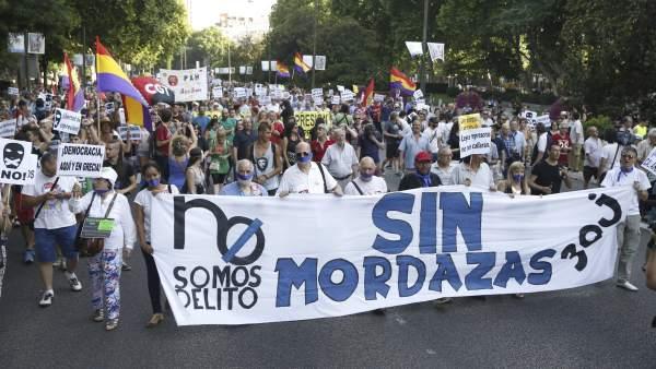 Manifestación  contra la 'Ley Mordaza'
