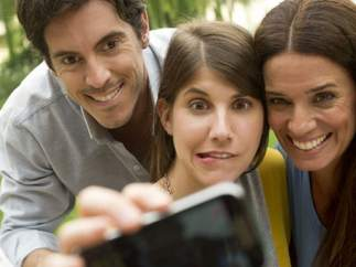 Un selfie con amigos