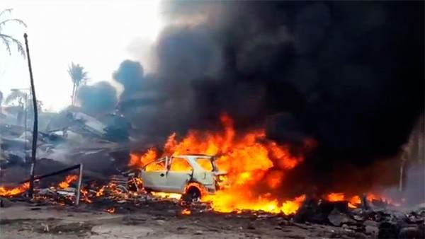 El momento posterior al accidente en Medan