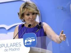 """Esperanza Aguirre pide a Rajoy un """"adelanto electoral"""" a septiembre"""