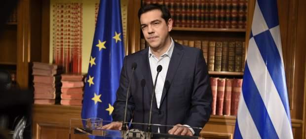 Tsipras pide el 'no' pero dice que no se trata de la salida del euro