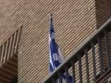 La bandera griega ondea en el Ayuntamiento de Zaragoza