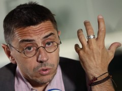 Monedero augura una gran discusi�n por las primarias de Podemos
