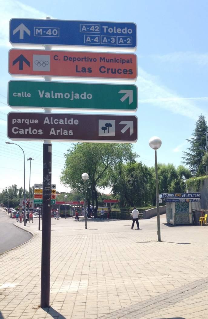 Indicaciones para el Parque Carlos Arias Navarro