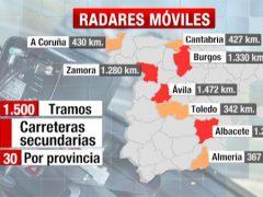 El mapa de los radares m�viles