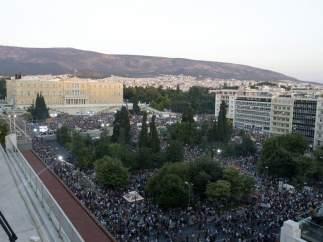 Manifestación por el 'No' en el referéndum grigo