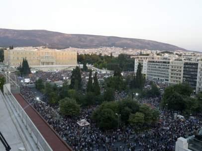 Manifestaci�n por el 'No' en el refer�ndum grigo