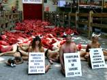 Protesta antitaurina en Pamplona
