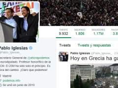Pablo Iglesias celebra en Twitter la victoria del 'no' en el refer�ndum griego