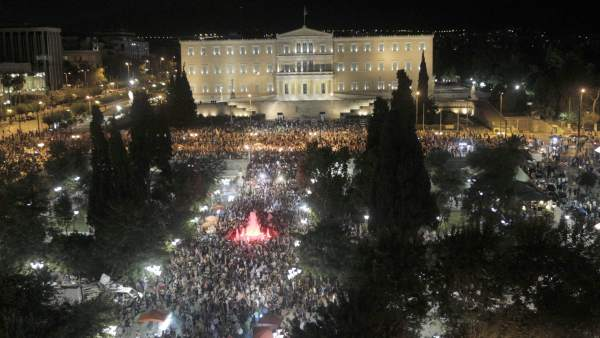 Panorámica de la plaza Syntagma