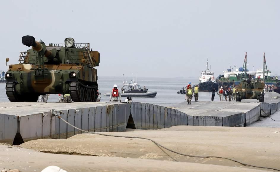 Maniobras militares en Corea del Sur