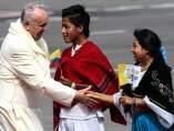 El papa llega a Ecuador