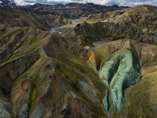 Central southern highlands of the Torfajökull volcanic system