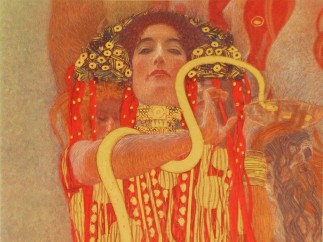 Gustav Klimt, Medicine (Detail: Hygieia), 1900/07, Faculty picture for the universities