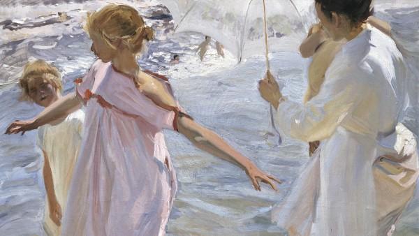'La hora del baño, Valencia' (1909)