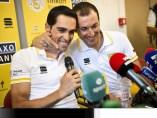 Alberto Contador e Ivan Basso
