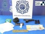 Material incautado por la Policía
