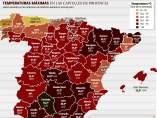 Temperaturas récord en España