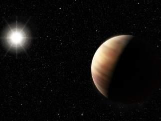 Descubren un planeta de características similares a Júpiter