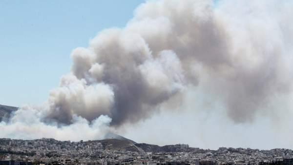 Gran incendio en el Peloponeso