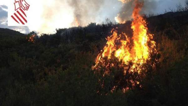 Incendio en Segorbe