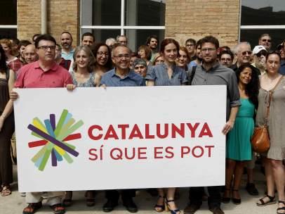 Presentación de 'Catalunya, Sí que es pot'