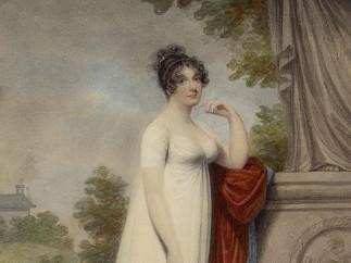 Adam Buck - Mary Anne Clarke by a statue, 1803