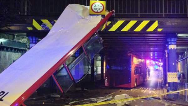Autobús de Londres accidentado