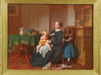 SEYMOUR JOSEPH GUY (1824�1910) - Peek-a-Boo