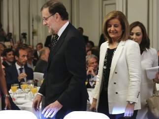 Mariano Rajoy y Fátima Báñez