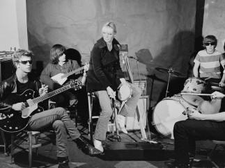 Stephen Shore, Lou Reed, Sterling Morrison, Nico, Ari, Moe Tucker, John Cale, The Factory, NYC, 1965-1967