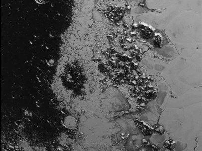 Cadena montañosa de hielo en Plutón