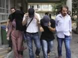 Detenidos en Estambul