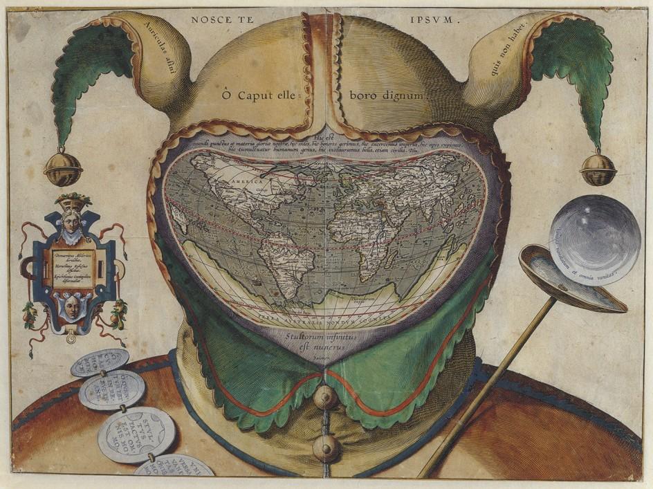 El mundo bajo la cabeza de un loco - Autor anónimo, c. 1600 - Germaniches Museum, Nuremberg
