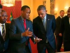 Obama conoce a 'Lucy' en Etiop�a