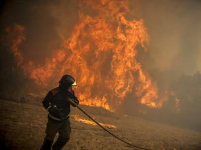 Incendio forestal en Ourense