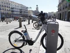 Bicicleta sin sill�n en Sol