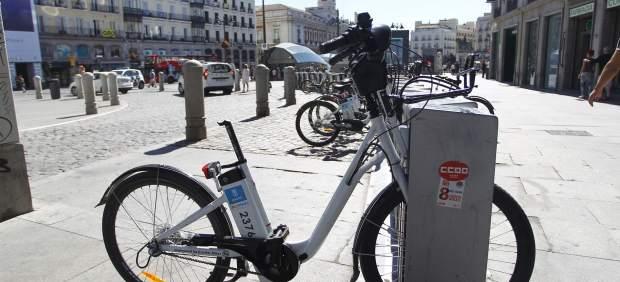 Bicicleta sin sillín en Sol