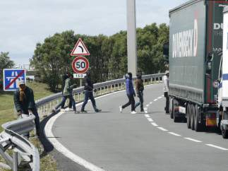 Inmigrantes Eurotunnel