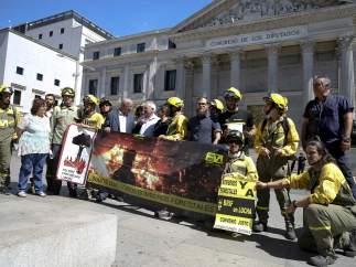 Protesta de los brigadistas antiincendios