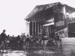 Una tromba de agua de 20 minutos, preludio de los conciertos en Arenal Sound