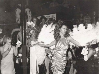"""Naomi modeling in the beauty parade with fans"", 1974"