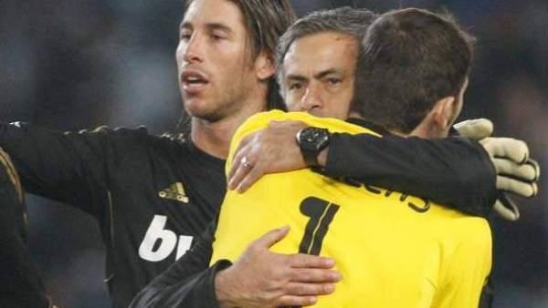 Mourinho, Casillas y Ramos