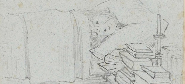 Sir Edward Burne-Jones (1833‒98) - Album of Illustrated Letters from Burne-Jones to Mrs Gaskell, 1893–8 - Have such a heap of books by me