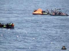 Dos barcos se hunden frente a Libia