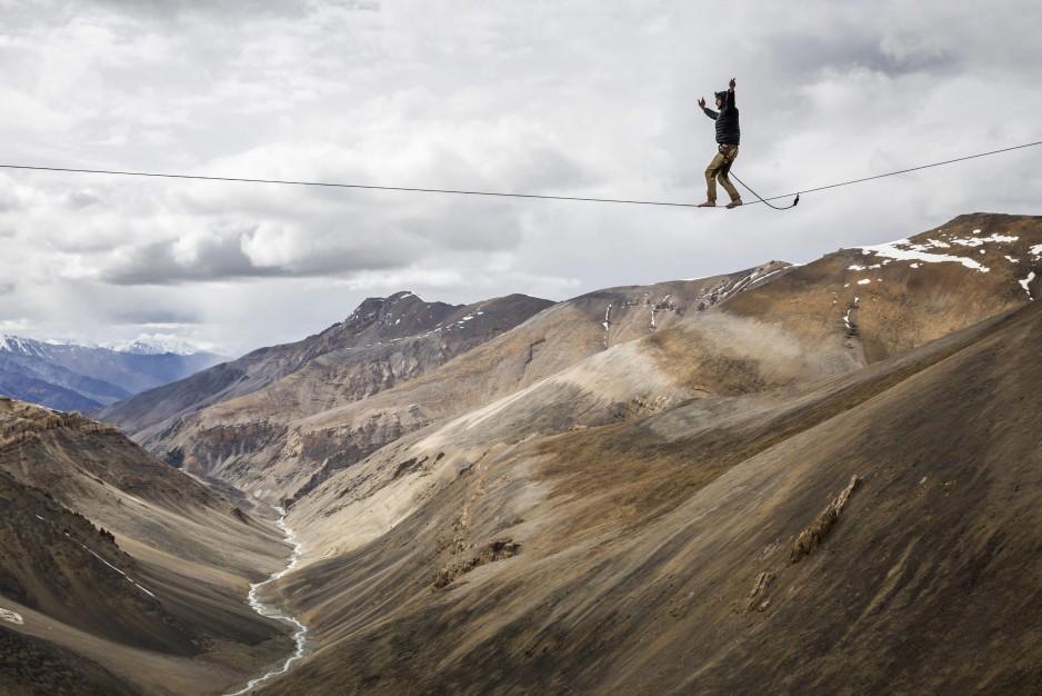 Funambulismo a 5.000 metros de altura