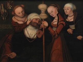 Lucas Cranach der Jüngere, Herkules bei Omphale, 1535